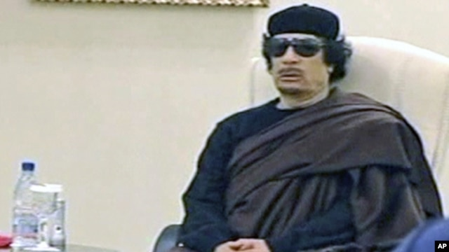 Ousted Libyan leader Moammar Gadhafi (file photo)