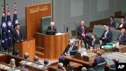中國國家主席習近平11月17日在澳大利亞聯邦議會發表講話。