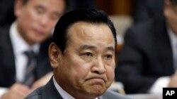 2015年2月10日,韩国新晋总理李完九在首尔韩国议会听证会上接受质询。