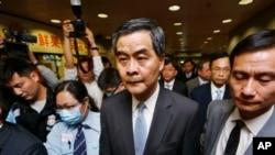 Pemimpin Eksekutif Hong Kong Leung Chun-ying.