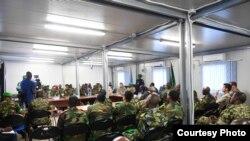 Mkutano wa maafisa wa ngazi ya juu wa Umoja wa Africa nchini Somalia (AMISOM) na washiriki wengine wa kimataifa, Mogadishu, Somalia, Feb. 15, 2019. (O. Abdisalan/AMISOM)