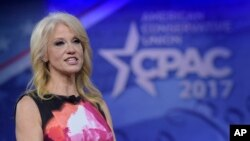 White House counselor Kellyanne Conway speaks at the Conservative Political Action Conference (CPAC) in Oxon Hill, Md., Feb. 23, 2017.