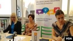 Projekat Javno-privatnog dijaloga za razvoj o sistemu paušalnog poreza, u Impakt habu u Beogradu, 31. avgusta 2018.
