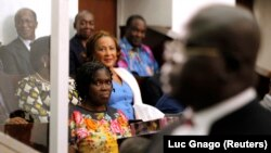 Lors du procès de Simone Gbagbo à Abidjan en Côte d'Ivoire, le 26 décembre 2014.