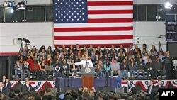 Tổng thống Obama nói chuyện tại thành phố Denver, bang Colorado về kế hoạch về tiền cho sinh viên vay, 26/10/2011