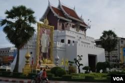 泰国东北部的呵叻市是中泰高铁第一期的终点。(美国之音朱诺拍摄,2015年7月23日)
