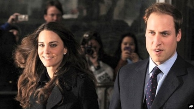 Britain's Prince William and his fiancee Kate Middleton, leave the New Zealand High Commission, in London, on February 25, 2011 (file photo)