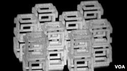 ფოტოზე იმ ობიექტის სტრუქტურაა, რომელიც 1000-ჯერ შეამცირეს. ავტორი დენიელ ორანი, მასაჩუსეტსის ტექნოლოგიური ინსტიტუტი.