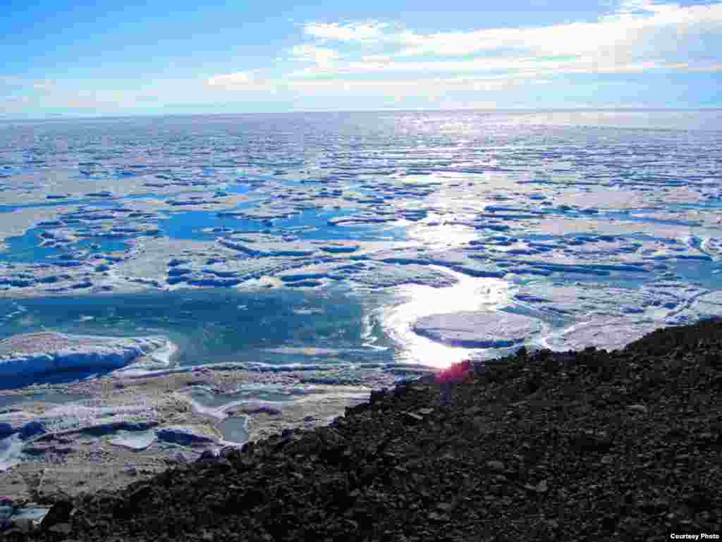 Only two percent of Antarctica is not covered in ice. (Jim Haugen/NSF)