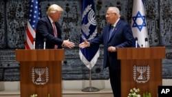 پرزیدنت ترامپ و «رووین ریولین» رئیس جمهوری اسرائیل