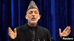 阿富汗总统卡尔扎伊 (资料图片)