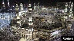 ສະຖານທີ່ປະກອບພິທີທາງສາສະໜາອິສລາມ ທີ່ເມືອງ Mecca ປະເທດ Saudi Arabia.