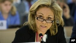 Đại sứ Hoa Kỳ tại Hội đồng Nhân quyền Eileen Chamberlain Donahoe nói công lý thắng thế là điều tối quan trọng