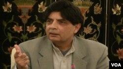 وفاقی وزیر داخلہ چوہدری نثار علی خان
