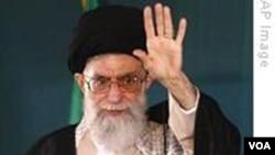 Pemimpin spiritual tertinggi Iran, Ayatollah Ali Khamenei.