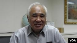 台湾国家联盟总召集人前民进党主席姚嘉文(美国之音申华拍摄)