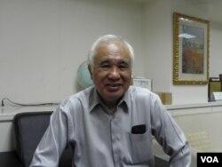 台灣國家聯盟總召集人前民進黨主席姚嘉文(美國之音申華拍攝)