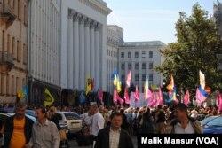 Rada oldida, Kiyev, 4-sentabr, 2014