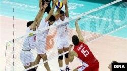 دیدار تیم های ایران و روسیه در لیگ جهانی والیبال