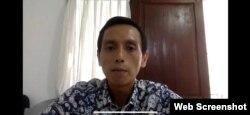 Direktur Imparsial, Al Araf saat memberikan keterangan pers secara virtual terkait penembakan di Intan Jaya, Papua, Senin, 28 September 2020. (Foto: screenshot)