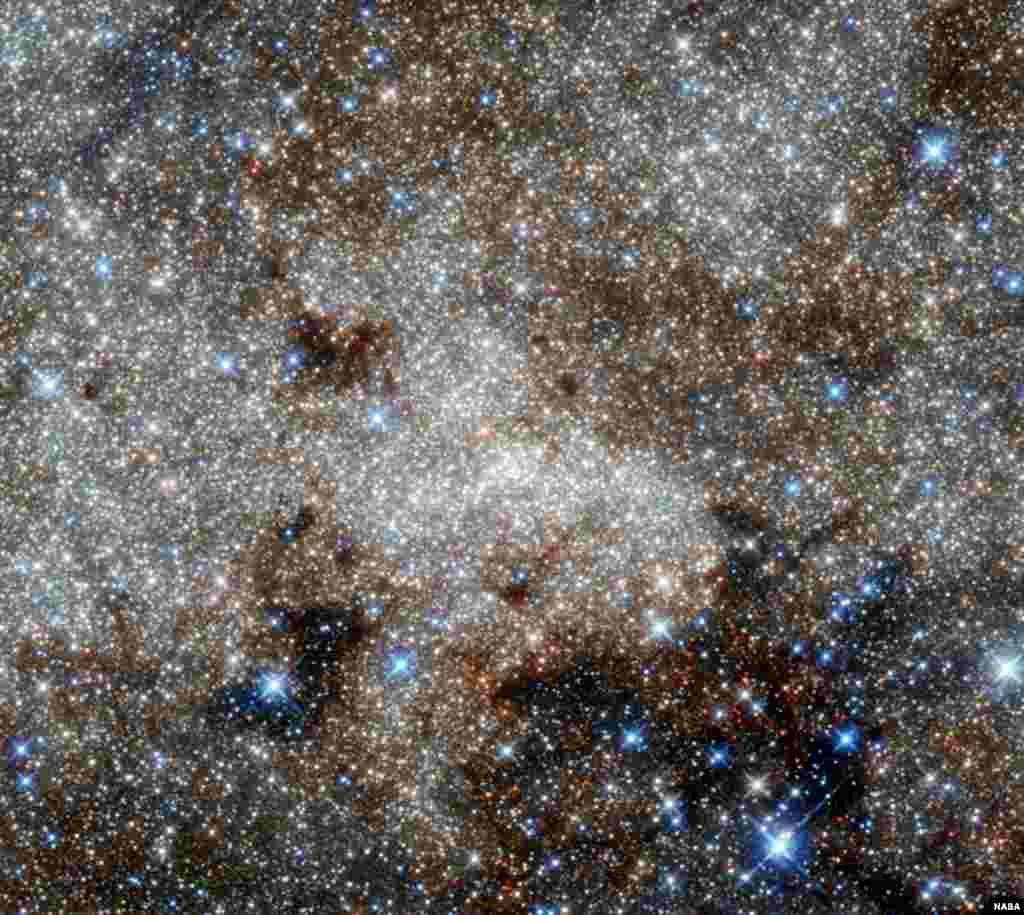 Star-studded center of the Milky Way towards the constellation of Sagittarius (NASA, ESA, and G. Brammer)