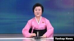 조선중앙TV 리춘희 아나운서 (자료사진=연합뉴스)