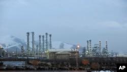 Cơ sở hạt nhân nước nặng của Iran gần thành phố Arak.