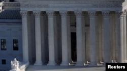 Edificio de la Corte Suprema de Estados Unidos, en Washington D.C. Foto de archivo.