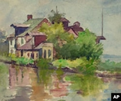 Susan Brown Chase's 1916 drawing of a C&O Canal lockmaster's house.