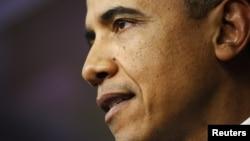 지난 1일 재정절벽 협상 타결 후 백악관에서 연설하는 오바마 대통령.