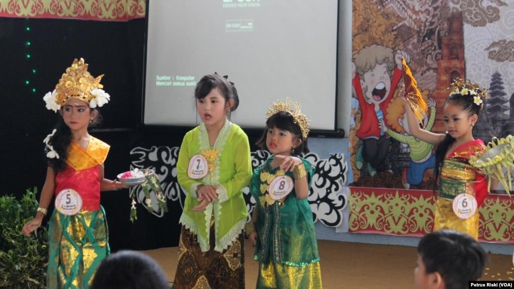 Lomba Baju Daerah Anak Anak Serukan Pesan Persatuan Dan Cinta Indonesia