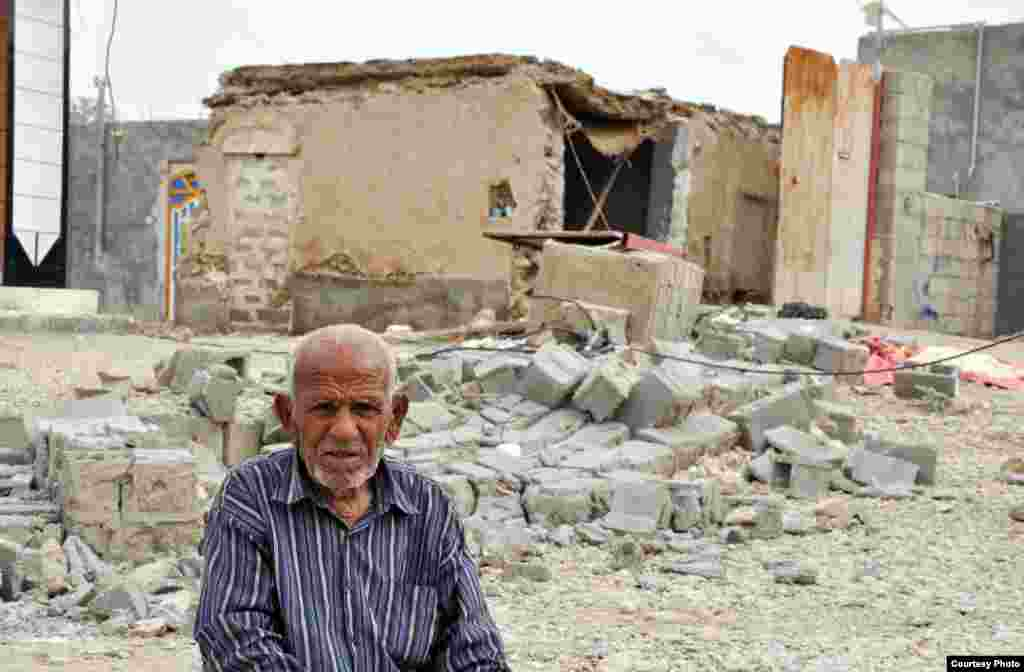 Destruction near the city of Bushehr, Iran, after a 6.1 magnitude earthquake struck on April 9, 2012.
