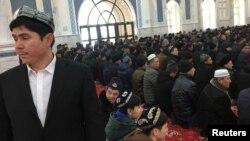 Prières dans une mosquée de l'Institut islamique du Xinjiang, Chine, le 3 janvier 2019.