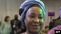 Fatma Samoura, nouvelle secrétaire générale de la FIFA, Abuja, 14 mai 2016.