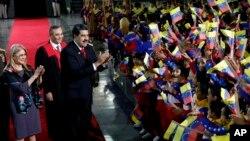 Nicolás Maduro jura ante Tribunal Supremo como presidente de Venezuela, su segundo periodo.