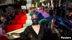 ARHIVA - Učesnici parade ponosa u Crmoj Gori (Foto: RojtersStevo Vasiljevic)