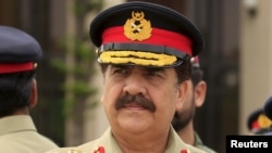 FILE - Pakistan's Army Chief of Staff General Raheel Sharif attends a ceremony at the Nur Khan air base in Islamabad. Gene. Sharif is to begin a crucial five-day visit to the United States on Nov. 16, 2015.