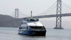 Workers Escape Crowds on San Francisco Ferries