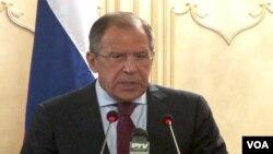 4일 파키스탄 수도 이슬라마바드에서 기자회견을 가진 세르게이 라브로프 러시아 외무부장관.