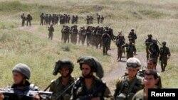 Израильская армия во время учений