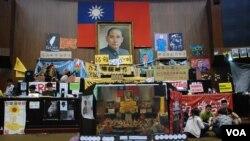 台灣反服貿「太陽花學運」佔領立法院。(資料圖片)