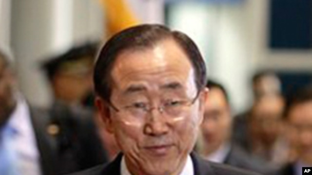 U.N. Secretary General Ban Ki-moon in South Korea, March 24, 2012.