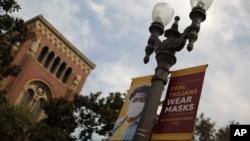 Trường đại học Nam California vắng vẻ vì đại dịch virus corona bùng phát.