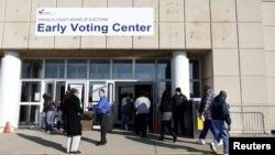 Tempat pemilihan lebih awal di Franklin County, Ohio. (Foto: AP)