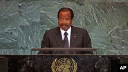 Cameroon's President Paul Biya (file photo)