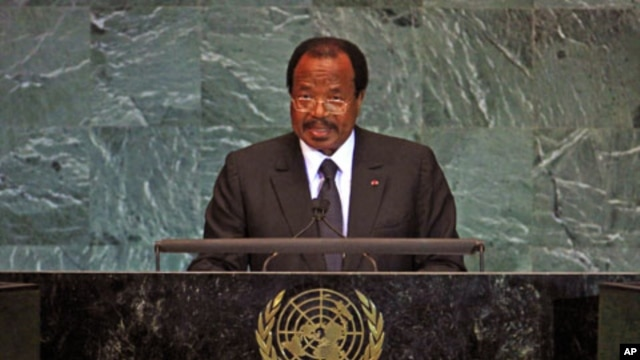 Cameroon's President Paul Biya (file photo)
