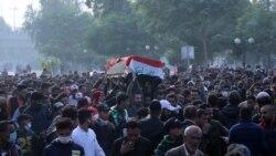 Les manifestants irakiens durcissent leur mouvement