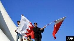 Demonstranti na Bisernom trgu u Manami, Bahrein, 15. februar 2011.