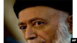 سهرۆکی پـێشـووی ئهفغانسـتان و سهرۆکی ئهنجومهنی ئاشتی بورهانهدین ڕهبانی له کابول، پـێـنجشهممه 14 ی دهی 2010