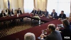 Sastanak stranačkih lidera u Predsjedništvu BiH, Sarajevo, 17. april